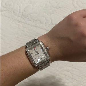Michele Diamond, Pearl Deco Watch